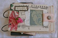 Beautiful Journal Ideas... thanks to Suzanne (Pink Roses)!