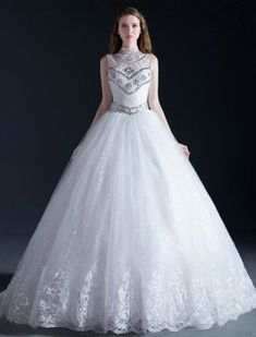 Affordable wedding dress designers list wedding dresses beaded a luxury high neck beading crystal sequins ruffle organza ball gown wedding dress junglespirit Choice Image