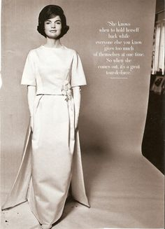 The stunning Jacqueline Kennedy