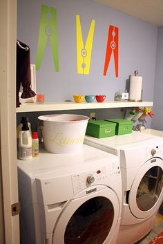 Clothes pin decals.