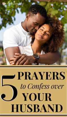 Do you pray intentionally for your husband? Here you'll find 5 prayers and declarations to speak over your husband for his work, relationships, spiritual growth, physical health and home life. #prayers #marriagetips #marriage