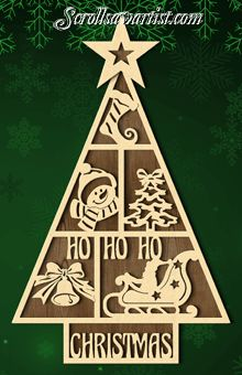 Scroll Saw Patterns :: Holidays :: Christmas :: Trees -