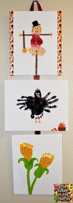 Fall Harvest Footprint Craft