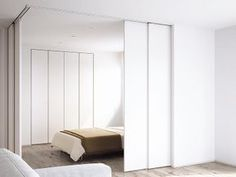 Movable Partition, Movable Walls, Condo Interior, Flat Interior, Small Bedroom Inspiration, Home Decor Inspiration, Waiting Room Design, Moving Walls, Decoration
