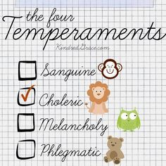 An Overview of the Four Temperaments this has a marriage in mind...but, I think is good for all kinds of relationships