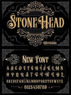 Stone Head Source by anna_schweidler Tattoo Lettering Fonts, Font Art, Graffiti Lettering, Lettering Styles, Calligraphy Fonts, Typography Letters, Lettering Design, Gothic Lettering, Gothic Fonts