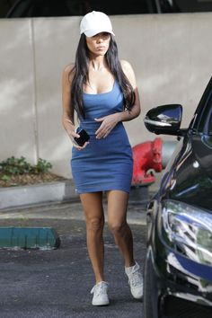 KOURTNEY KARDASHIAN in Tight Dress Out in Los Angeles 10/17/2017