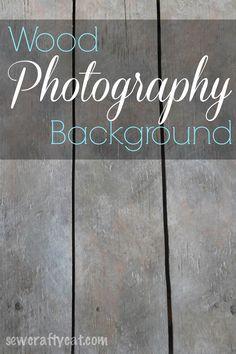 DIY Wood Photography Background | sewcraftycat.com