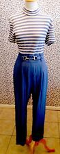 Cache Blue & White Stripe Work Or PLay Spandex Top Straight Leg  Jumpsuit, 10