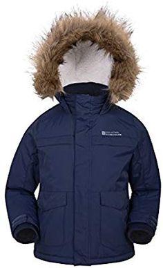 5365f1531af Mountain Warehouse Samuel Kids Parka Jacket - Warm Winter Jacket Navy 13  years  Amazon.ca  Sports   Outdoors