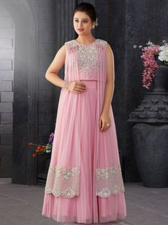 Shop Pink designer girls lehenga choli in net online from India. Indian Wedding Gowns, Best Wedding Guest Dresses, Wedding Flower Girl Dresses, Baby Party Wear Dress, Baby Girl Birthday Dress, Choli Dress, Saree Gown, Ghagra Choli, Lehenga Choli With Price