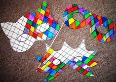 Masques Carnaval--very colorful idea and simple to make - knutselen - Diy And Crafts, Arts And Crafts, Paper Crafts, Mardi Gras, Theme Carnaval, Diy For Kids, Crafts For Kids, Carnival Crafts, Carnival Tent