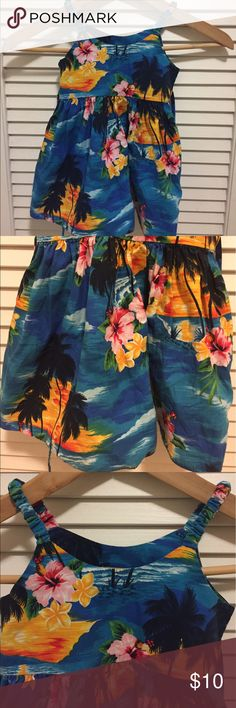 Floral Hawaiian Dress Beautiful dress with ties.100% Cotton Pacific Legend Dresses