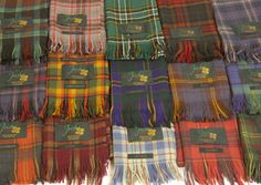 All Ireland & Irish Provinces Tartan Scarves - the one in the middle looks like Purcell / kilkinney