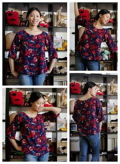 Free raglan sleeve swing top printable pattern