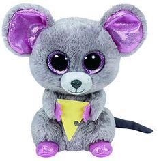 Ty Beanie Boos Squeaker the Mouse w  Cheese Small Plush  3152c6a92c2e