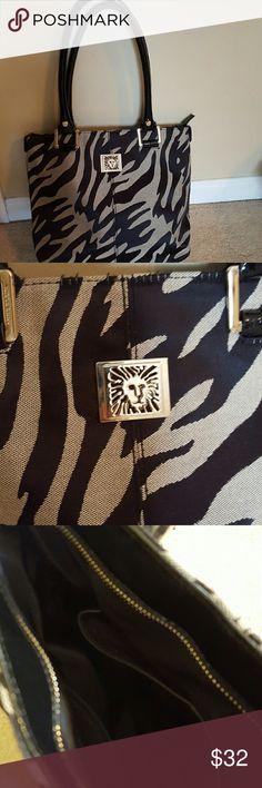 FINAL SALE Gorgeous Anne Klein bag Tan and black animal print Anne Klein Bags