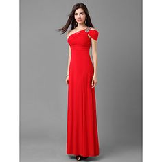 Formal Evening/Prom/Military Ball Dress Sheath/Column One Shoulder Floor-length Jersey Dress – USD $ 69.99