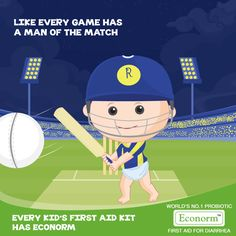 Bravo Rajasthan Royals! Like Steve Smith proved his worth as the Man of the Match, let Econorm be a trustworthy opponent in your child's fight against Diarrhea!