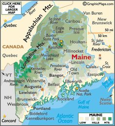 Maine map click to enlarge areas like Moosehead Lake or other areas of interest. I'm from the Portland area :) :)