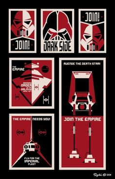 6 Star Wars recruitment posters