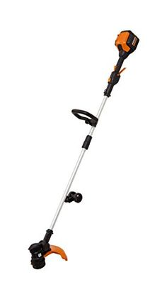 WORX 13 Cordless Grass Trimmer with 56V Max LiIon Inline Wheeled Edging and includes 90min Charger  WG191 ** You can find out more details at the link of the image-affiliate link.