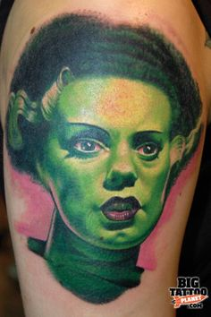 My Bride of Frankenstein tattoo by Aaron Bell - Slave to the Needle - Colour Tattoo | Big Tattoo Planet