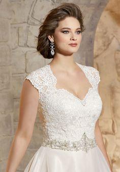 7dbd8ebb053ee Majestic Embroidery with Crystal Beaded Waistline on Soft Net Morilee  Bridal Wedding Dress