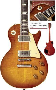 9-1181 Guitar Pics, Cool Guitar, Fender Stratocaster, Eric Clapton, 1959 Gibson Les Paul, Les Paul Guitars, Les Paul Standard, Gibson Guitars, Vintage Guitars
