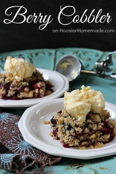 Simple Berry Cobbler | Recipe on HoosierHomemade.com featuring Truvia® Baking Blend. Perfect dessert for the Spring!