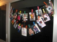 1st Birthday Picture Display