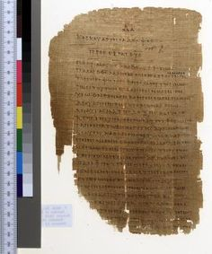 (from week2)A Roman papyrus leaf in Greek from the end of the 2nd century AD torn on all sides. The reuseability of the image is given with a CC BY 3 license. W:3 Use of pagination, also calle quire signature shifted over time, here in the upper middle, with a different nib than the rest.