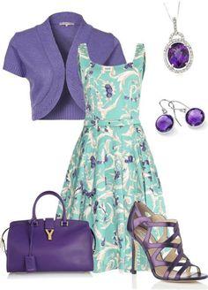 Violeta y turquesa