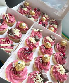 And weeee made pink too  Only one box of 12 left in the pink to buy! Collection from Bolton Message me to buy  Eid Food, Thing 1, Mini Cupcakes, Messages, Box, Desserts, Pink, Stuff To Buy, Collection