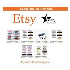 visit our Etsy shop for even more clothing labels items!