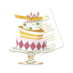 A selection of tasteful birthday invitations chosen by a professional party planner 80th Birthday Invitations, Whimsical, Shapes, Cake, Party, Crafts, Design, Manualidades, Food Cakes