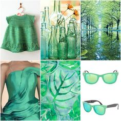 Sproutlette Dress, bottles, trees, dress, batik print, sunglasses.