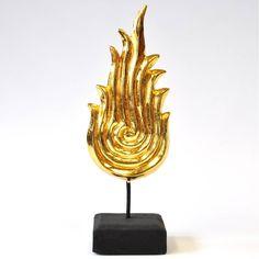Himmelsflamme Thailand Skulptur gold 30cm