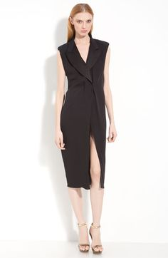 Lanvin Crepe Georgette Tuxedo Dress available at #Nordstrom