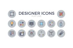 Here comes a very special exclusive Designer Flat Icon Pack. From ecomm.design (a great community for ecommerce websites) /Volumes/Marketing/_MOM/Design Freebies/Free Design Resources/Designer Flat Line Icon Set