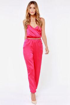 """""""Let it Linger"""" pink jumpsuit"""