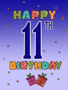 Happy 11th Birthday Flag Garden Size CJ1102GF