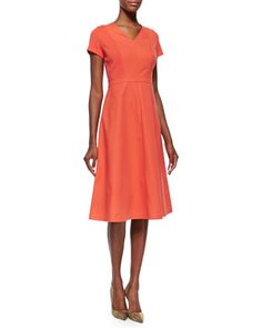 Manon Sleeveless Flared Slip Dress by Lafayette 148 New York at Neiman Marcus.