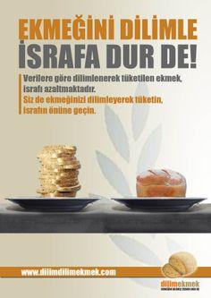 """Ekmek İsrafını Önleme Kampanyası - Kampanya Önerisi ve Tasarımı / Project & Design of """"Preventing Bread Waste"""" Campaign Graphic Design, Food, Essen, Meals, Yemek, Visual Communication, Eten"""