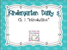 Kindergarten Daily 5 Book Study