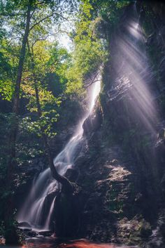 Sunbeams over a Waterfall photo by luisvilanova on Envato Elements Waterfall Photo, Stock Photos, Adventure, Portrait, Photography, Outdoor, Inspiration, Ideas, Outdoors