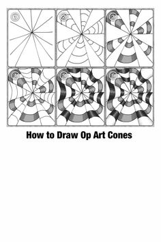 Free Op Art printable art worksheets