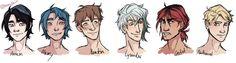 Armin. Alex. Kentin. Lysandre. Castiel. Nathaniel. Amor Doce. Crédito: http://arr3-arts.tumblr.com/