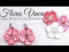 How to make Vinca Flowers with Petal Beads ~ Seed Bead Tutorials