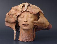 brown - head - sculpture -  Marika Baumler